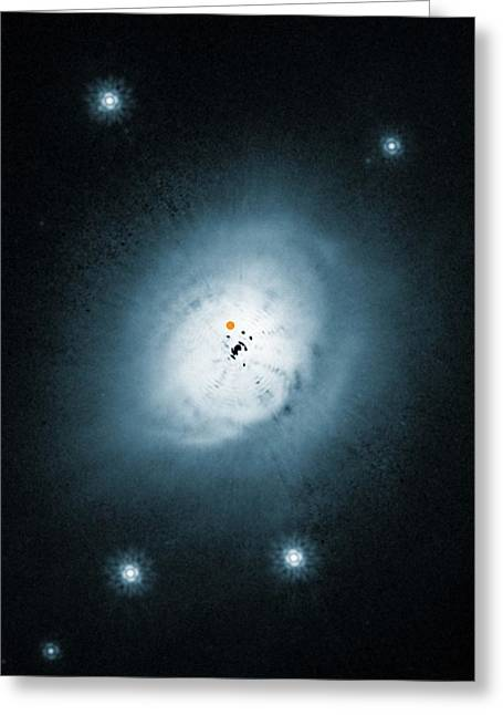 Protoplanet Orbiting A Star Greeting Card by Eso/nasa/esa/ardila Et Al.