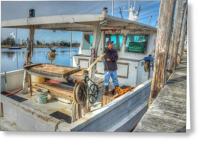 Greeting Card featuring the photograph Proud Fisherman by Francis Trudeau