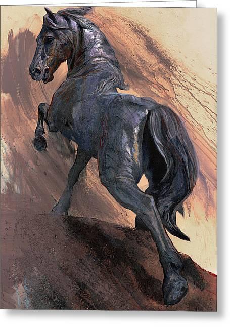 Proud Horse Greeting Card by Dragan Petrovic Pavle
