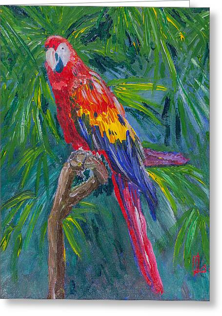 Proud Parrot Greeting Card