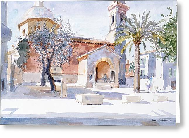 Provencal Church Greeting Card by Lucy Willis