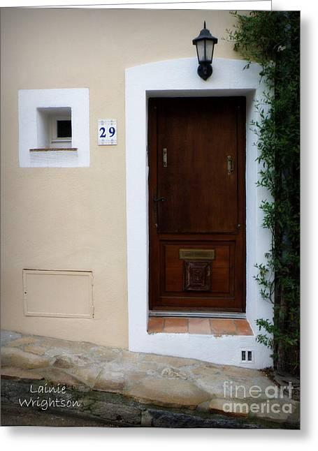 Provence Door 29 Greeting Card