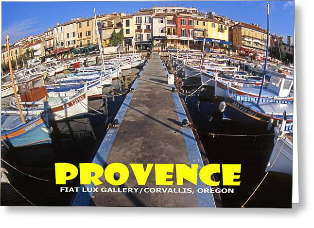 Provence Fisheye View II Greeting Card