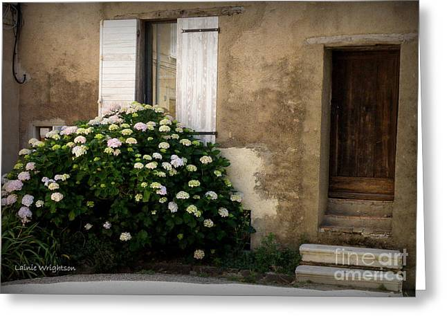 Provence House Greeting Card by Lainie Wrightson