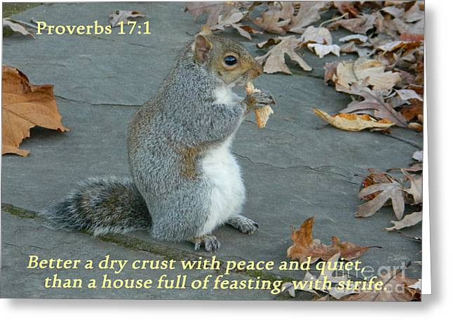 Proverbs 17-1 Greeting Card by Emmy Marie Vickers