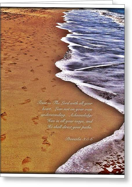 Proverbs 3 5 Greeting Card
