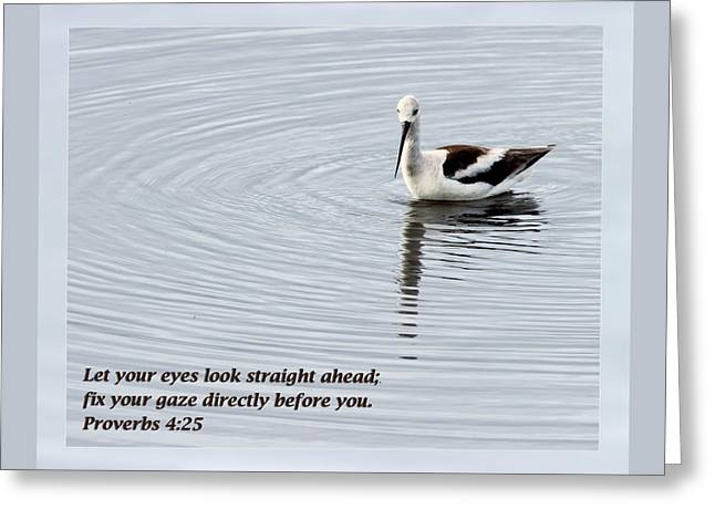 Proverbs 4 25 Greeting Card by Dawn Currie