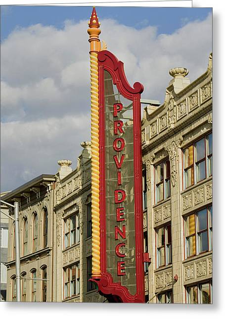 Providence Performing Arts Center Greeting Card