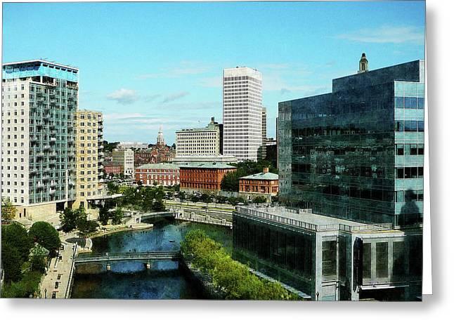 Providence Ri Skyline Greeting Card by Susan Savad