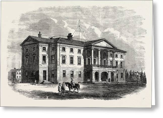 Province Building, Charlotte Town, Prince Edward Island Greeting Card by English School