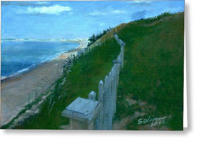 Provincetown And Cape Cod Bay From Lookout Bluff Greeting Card