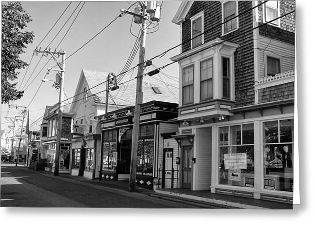 Provincetown Cape Cod Greeting Card by Georgia Fowler