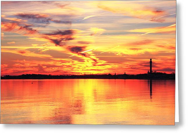 Provincetown Harbor Sunset Greeting Card by Roupen  Baker