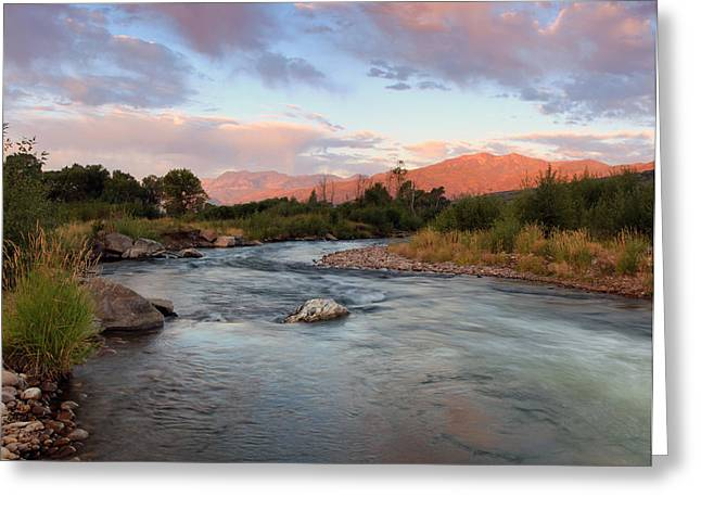 Provo River Sunrise Greeting Card