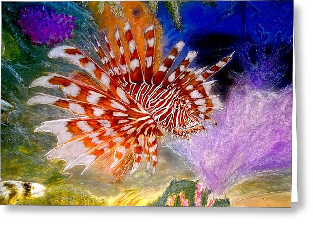 Prowling The Reef Greeting Card by Hank  Bufkin