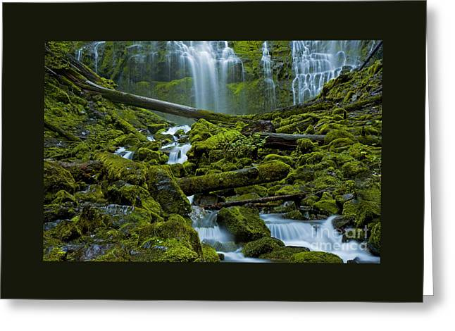 Greeting Card featuring the photograph Proxy Falls by Nick  Boren