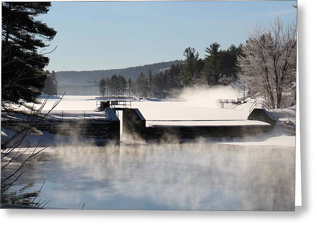 Winter  Pine River Pond  Greeting Card
