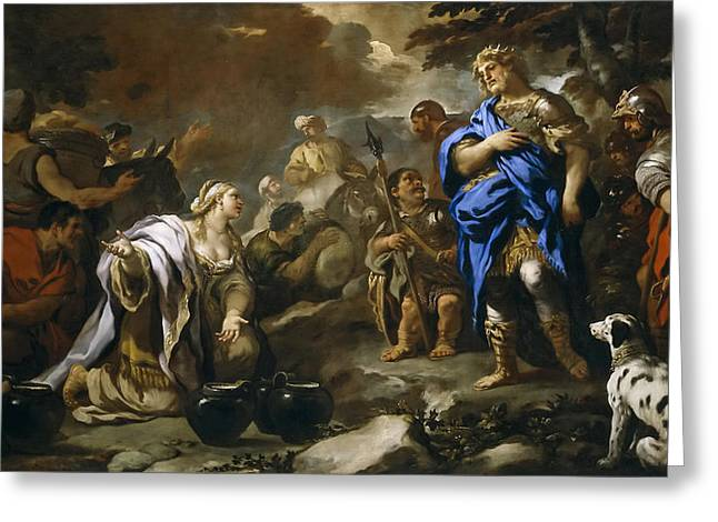 Prudent Abigail Greeting Card by Luca Giordano