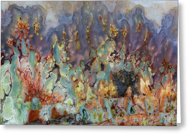 Prudent Man Agate, Origin Idaho Greeting Card by Darrell Gulin