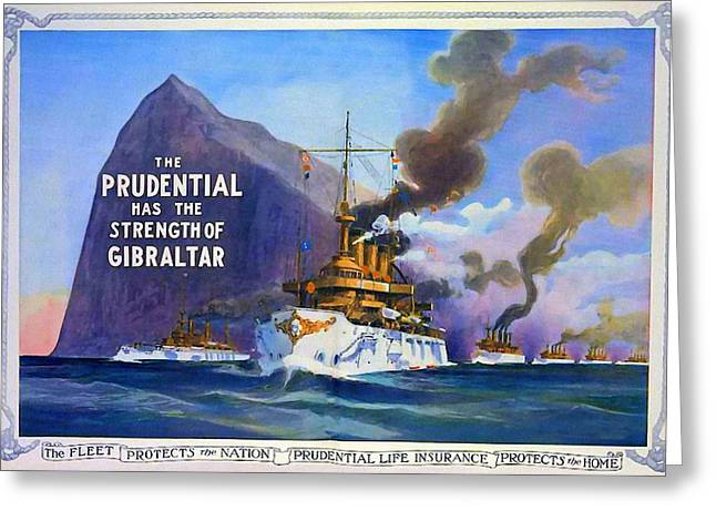 Prudential Life Insurance Poster Greeting Card by Charlie Ross