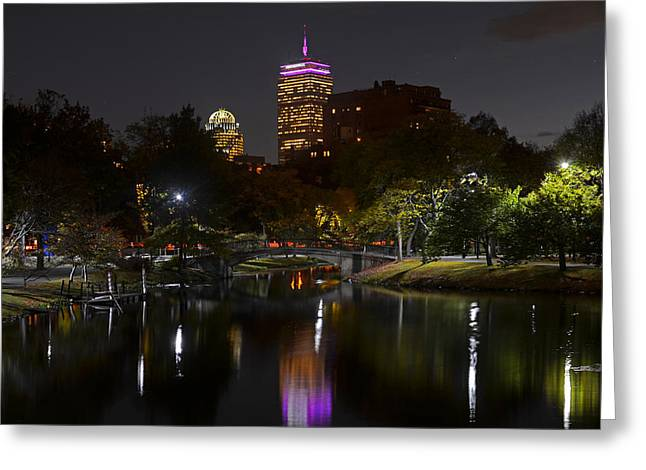 Prudential Over The Charles River Greeting Card