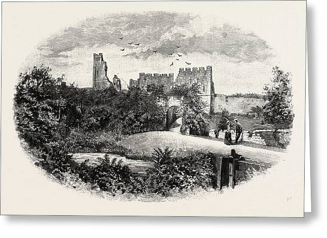 Prudhoe Castle,  Is A Ruined Medieval English Castle Greeting Card by English School
