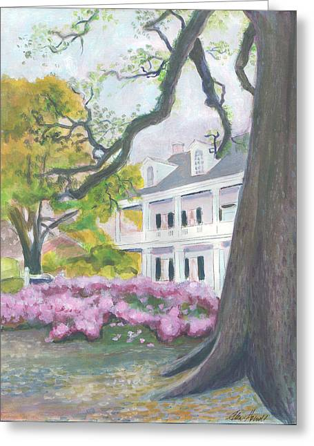 Prudhomme-rouquier House In Natchitoches Greeting Card by Ellen Howell