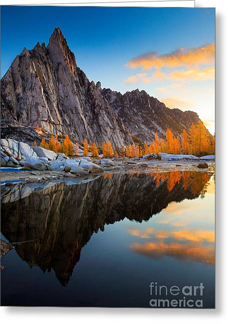 Prusik Reflection Greeting Card by Inge Johnsson