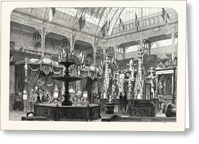Prussian Exhibition At The Palace Of Industry Greeting Card by French School