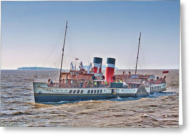 Ps Waverley Approaching Penarth Greeting Card by Steve Purnell