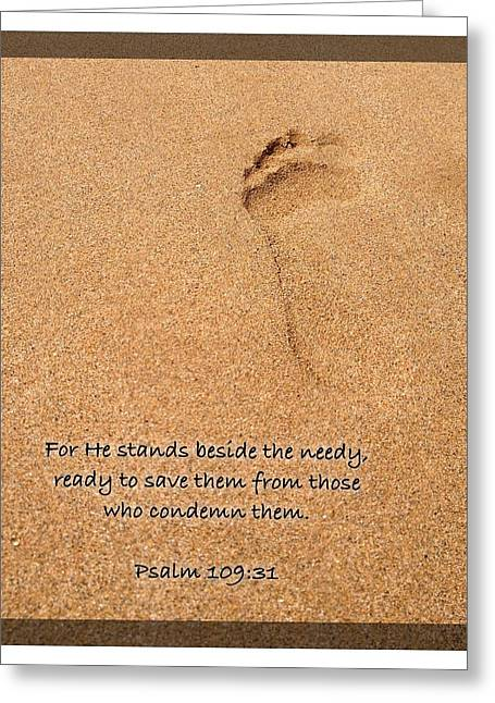 Psalm 109 31 Greeting Card