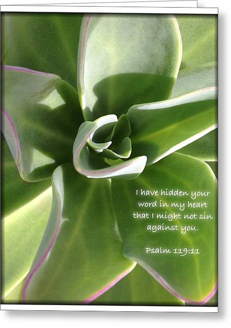 Psalm 119 19 Greeting Card