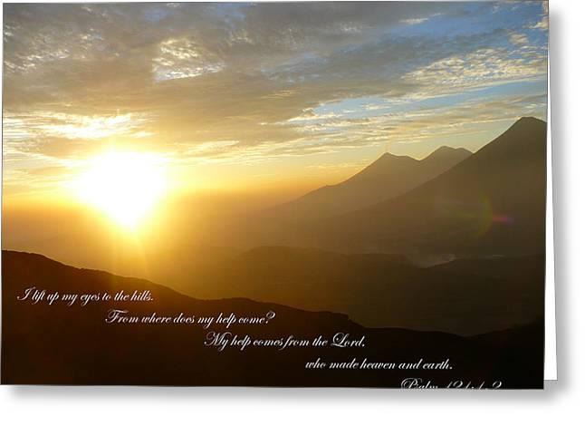 Psalm 121 1 2 C Greeting Card by Nicki Bennett