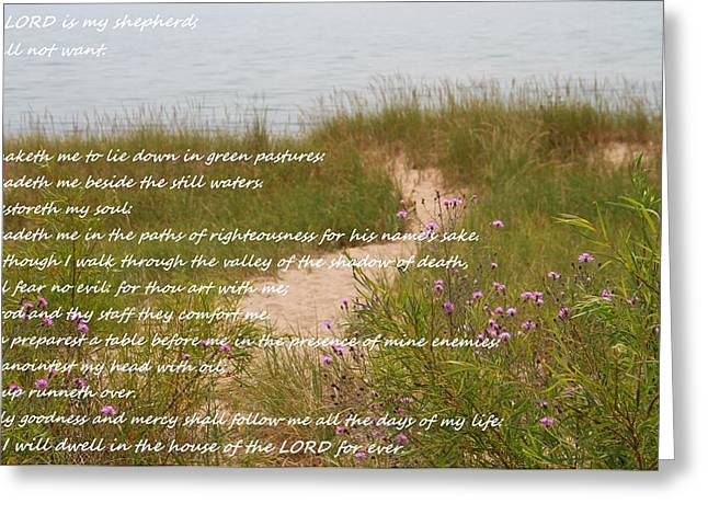 Psalm 23 Path  Greeting Card by Dan Sproul