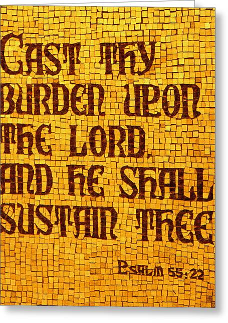 Psalm 55 Greeting Card by James Hammen