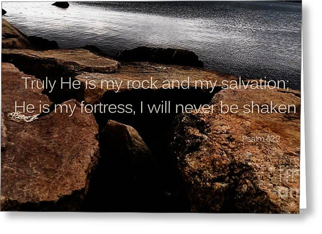 Psalm 62 Greeting Card by Andrea Anderegg