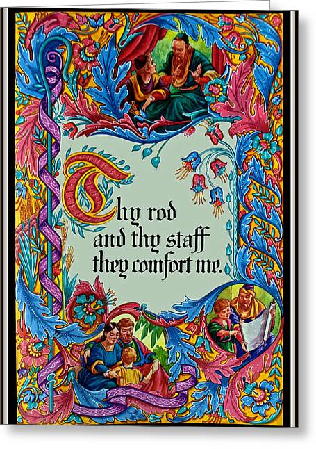 Psalms 23-4b Greeting Card by Tikvah's Hope