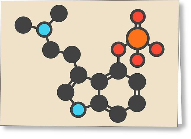 Psilocybin Psychedelic Mushroom Molecule Greeting Card by Molekuul