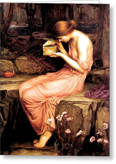 Psyche Opening The Golden Box 1903 Greeting Card