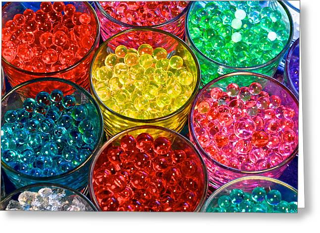 Psychedelic Beads Greeting Card by Frozen in Time Fine Art Photography