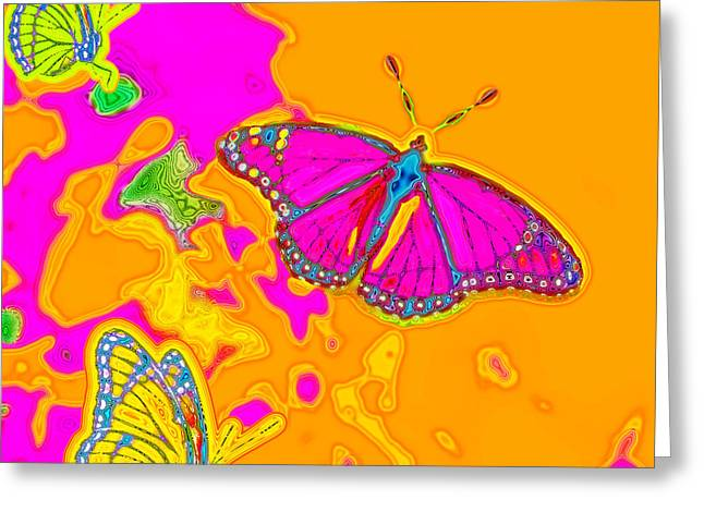 Psychedelic Butterflies Greeting Card