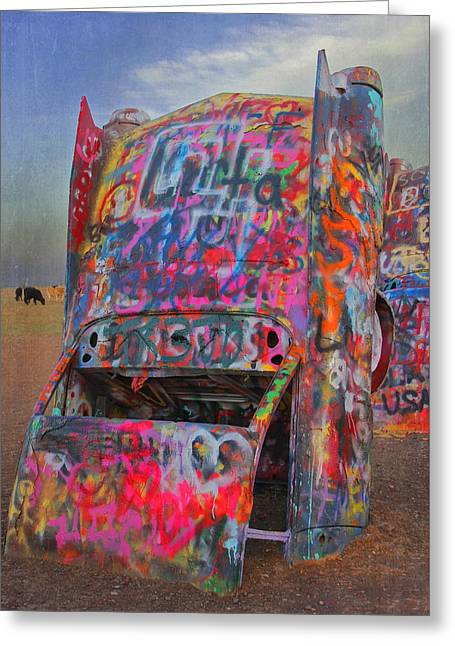 Psychedelic Cadillac Greeting Card