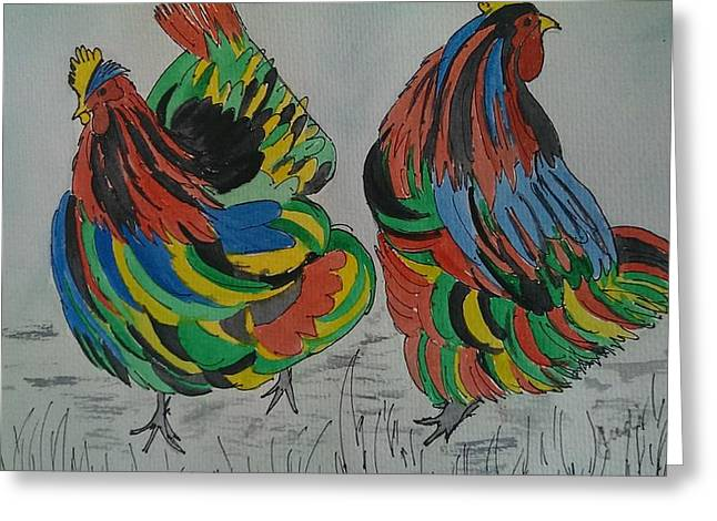 Psychedelic Chooks Greeting Card