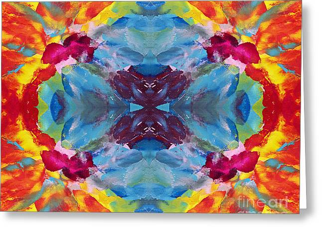 Psychedelic Collision Greeting Card by Pattie Calfy