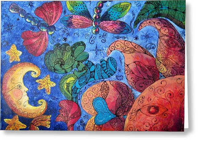 Psychedelic Dreamscape Greeting Card