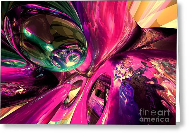 Psychedelic Fun House Abstract Greeting Card by Alexander Butler