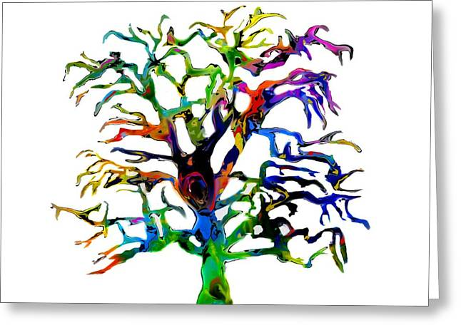 Psychedelic Oak Tree Greeting Card
