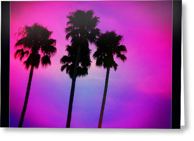 Psychedelic Palms Greeting Card