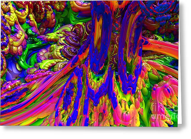 Greeting Card featuring the digital art Psychedelic Pastries by Arlene Sundby