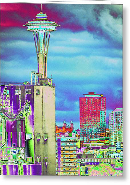 Psychedelic Seattle Greeting Card